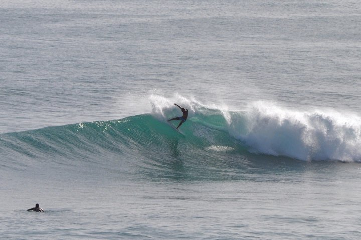 Sammy Crooke - Peconic Water Sports surfing instructor surfing in Barbados