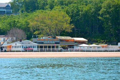 Sunset Beach as seen from a Peconic Water Sports Hamptons Charter Boat