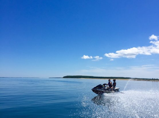 Riding Rental Jet Skis with Peconic Water Sports in Southampton in the Hamptons