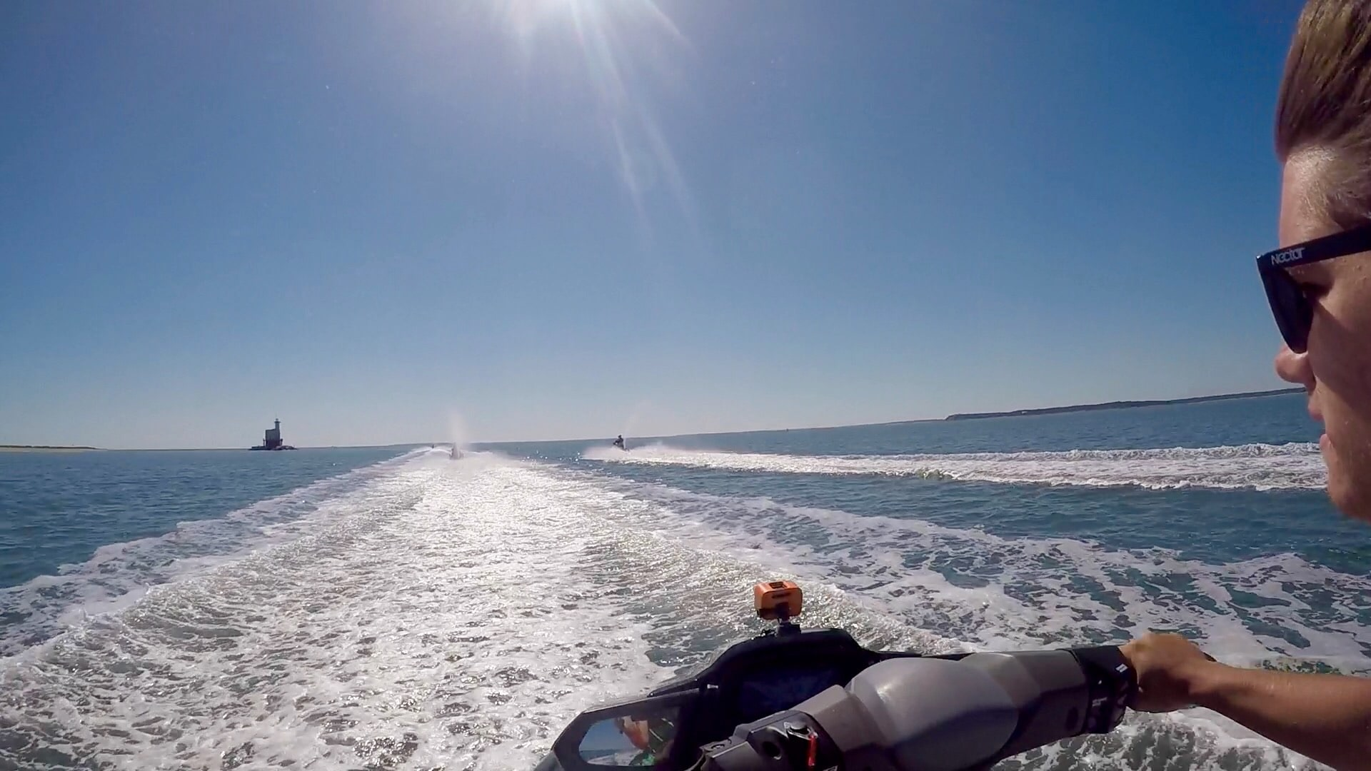Jet Ski Ride with Peconic Water Sports in Orient Bay headed towards East Hampton, Long Island, New York