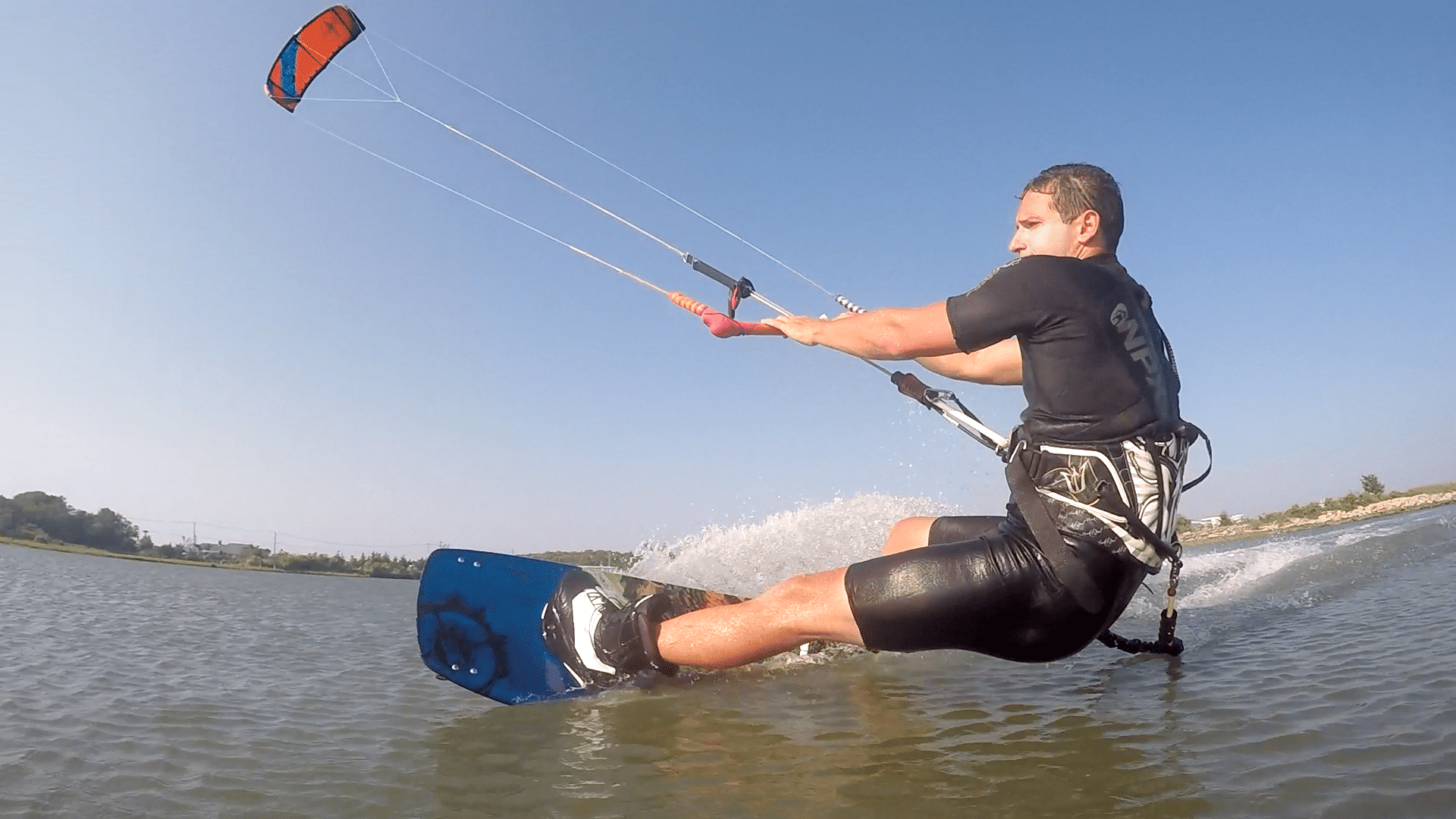 Spencer Kiteboarding at the Greenport Jetty in Long Island, New York