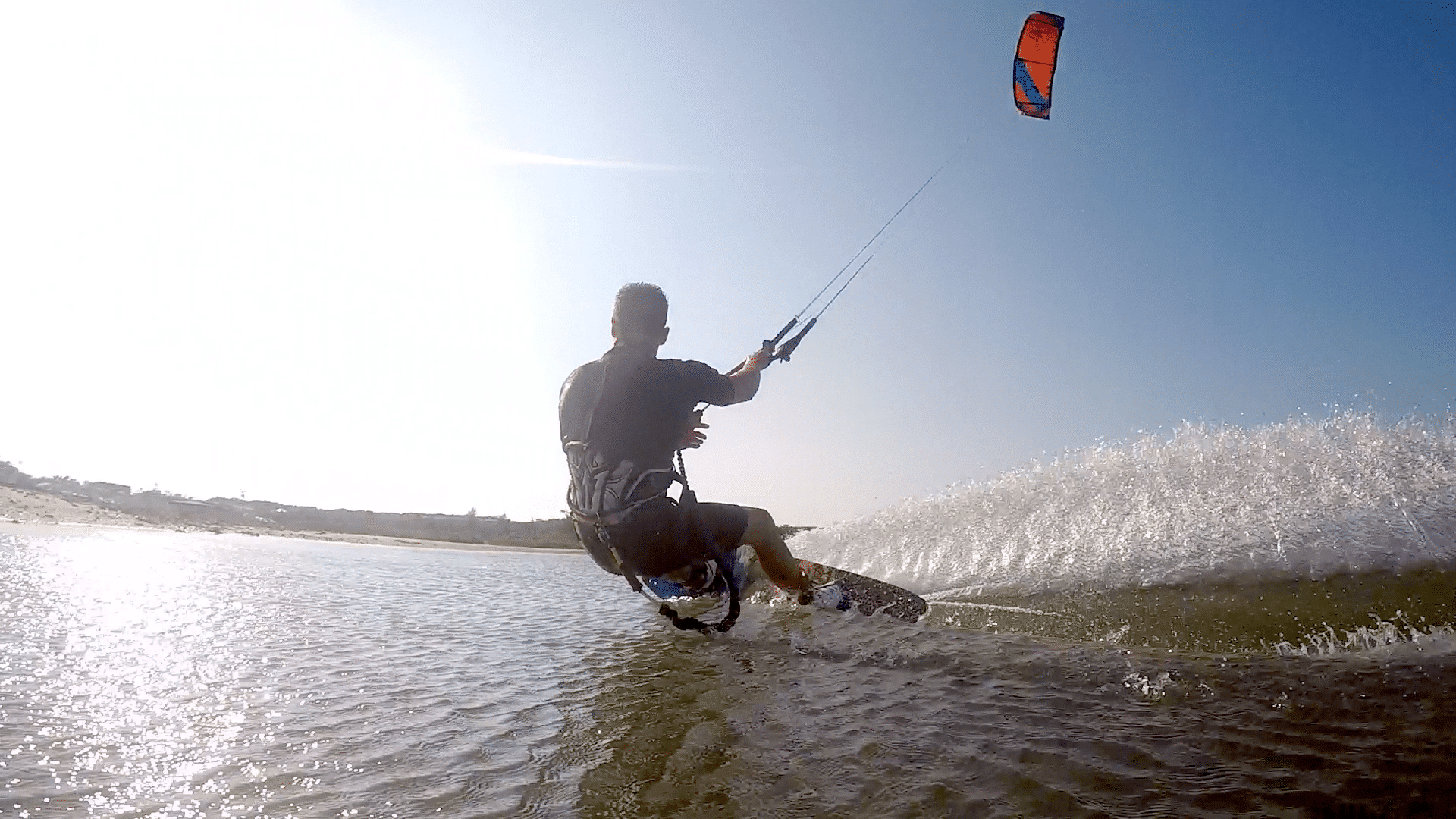 Matt Flotteron Kiteboarding in Southampton, NY with Peconic Water Sports during the Summer of 2015