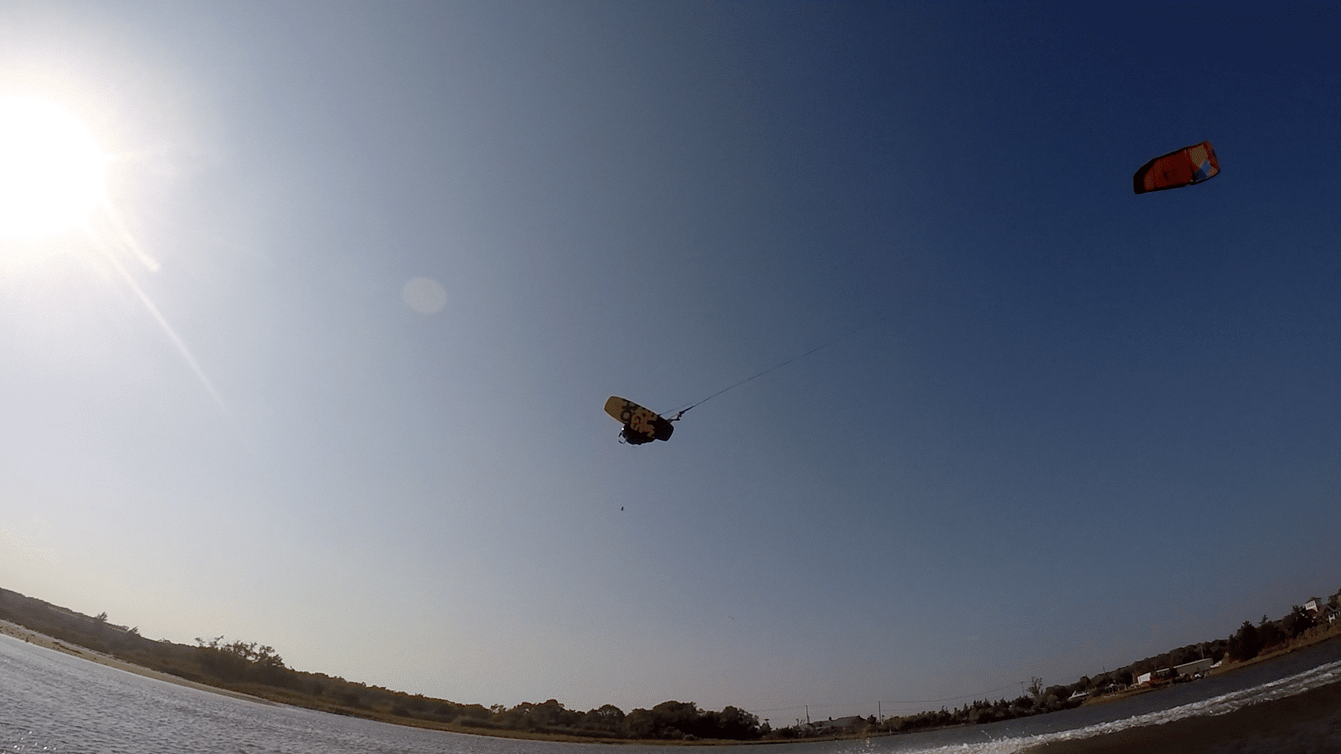 Spencer Hurteau Kiteboarding with Peconic Water Sports in Long Island, New York