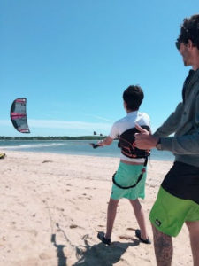 Kids Kiteboarding Lessons with Peconic Water Sports in the Hamptons near Southampton, Long Island, New York