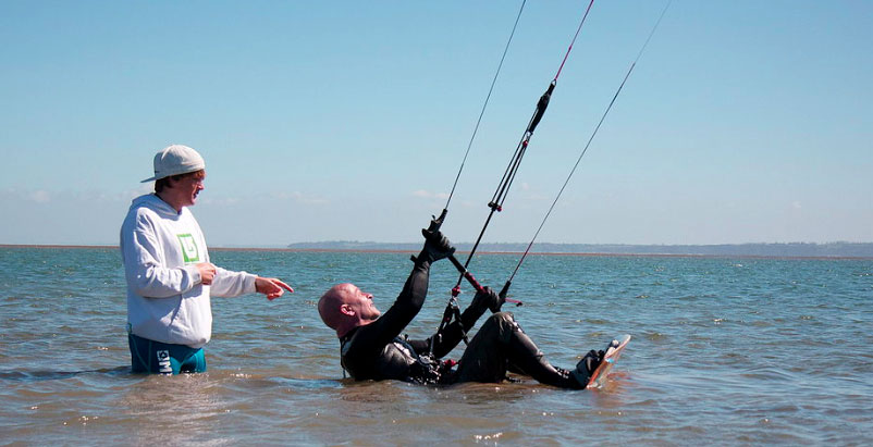 Kiteboarding Lesson with Peconic Water Sports in the Hamptons near Shelter Island in Long Island, New York