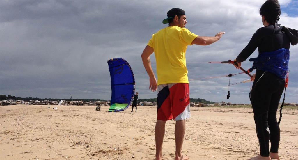 Kiteboarding Instruction with Peconic Water Sports in Greenport, NY