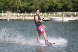 Wakeboarding in the Hamptons with Peconic Water Sports after Leaving Sag Harbor to head to Sunset Beach