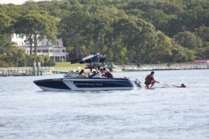 Peconic Water Sports Boat Nautique Wakeboard Charter in the Hamptons