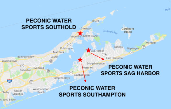 Peconic Water Sports Locations Map